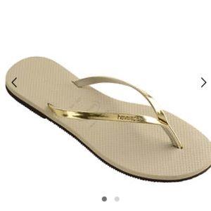 Havaianas You Gold Metallic Sandal Kids